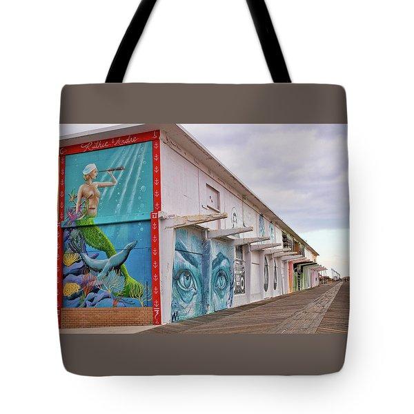 Keeping Watch In Asbury Park Tote Bag