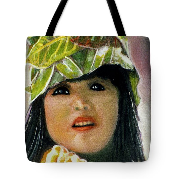 Keiki Child In Hawaiian #115 Tote Bag by Donald k Hall