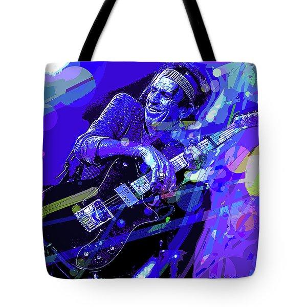 Keith Richards Blue Tote Bag