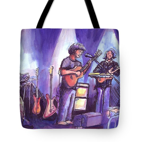 Keller And His Compadres Tote Bag by David Sockrider