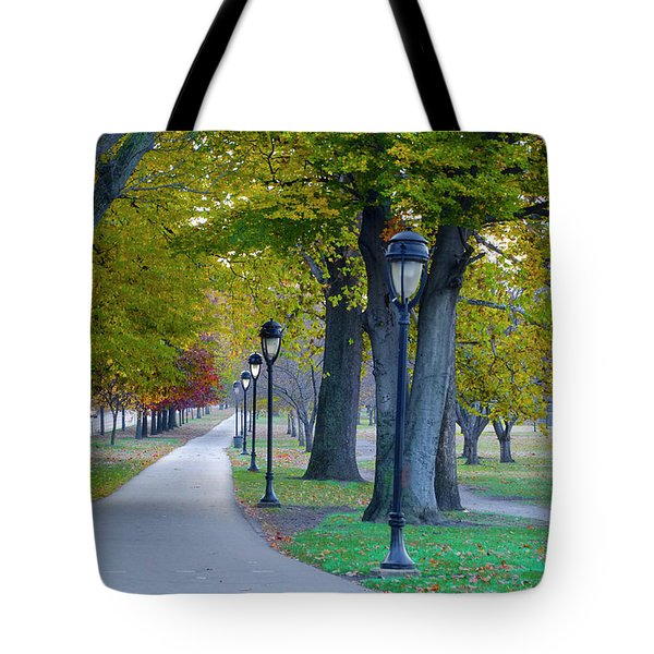 Tote Bag featuring the photograph Kelly Drive In Autumn by Bill Cannon
