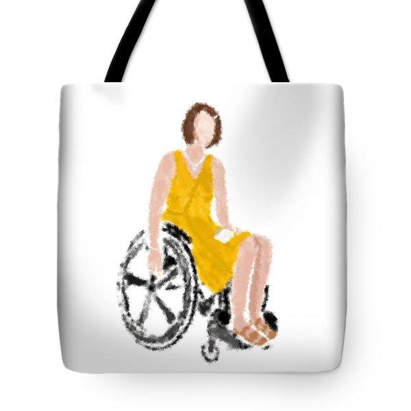 Tote Bag featuring the digital art Kelly by Nancy Levan