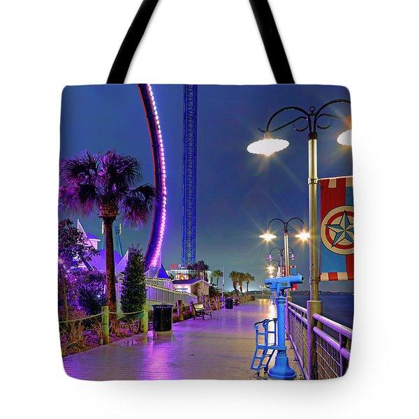 Tote Bag featuring the photograph Kemah Boardwalk - Amusement Park - Texas by Jason Politte