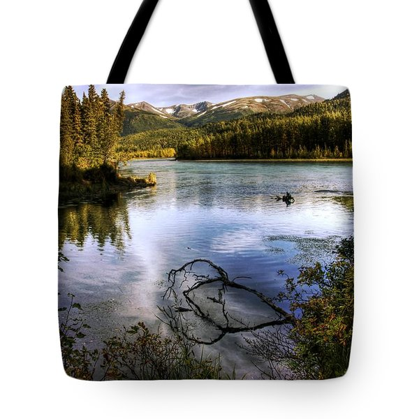 Kenai River In Fall Tote Bag