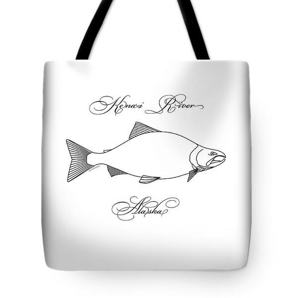 Kenai Sockeye Alaska Tote Bag