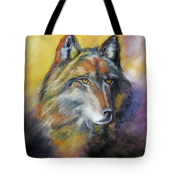 Kenai Wolf Portrait Tote Bag by Jennifer Godshalk