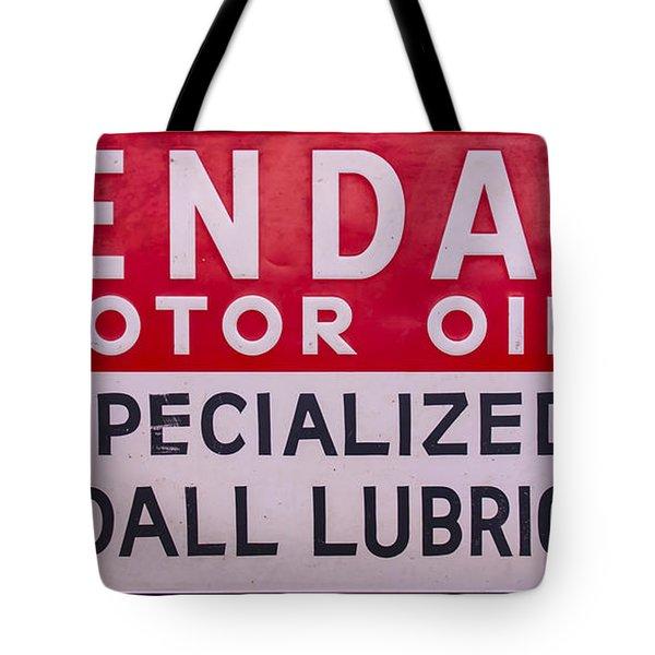 Kendall Motor Oils Sign Tote Bag