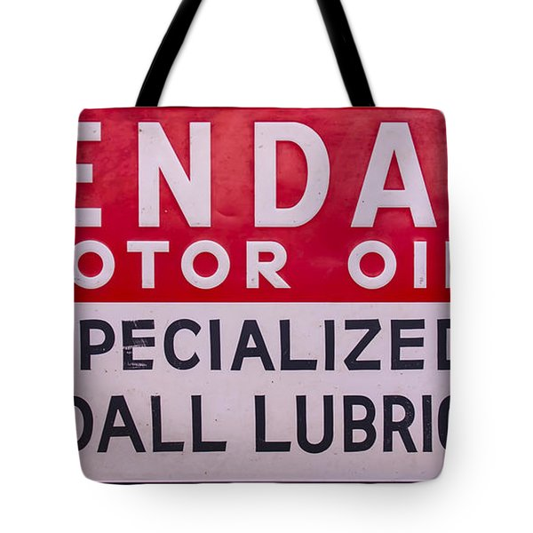 Kendall Motor Oils Sign Tote Bag
