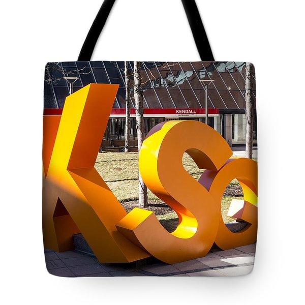 Kendall Square Sign Cambridge Ma Tote Bag