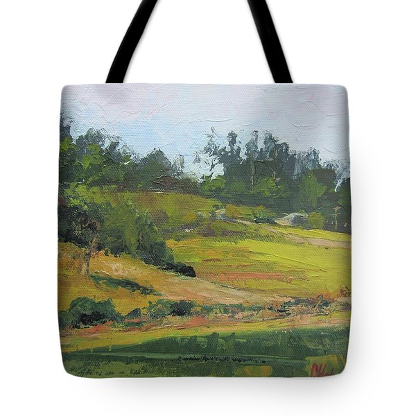Tote Bag featuring the painting Kenilworth Hills Queensland Australia by Chris Hobel