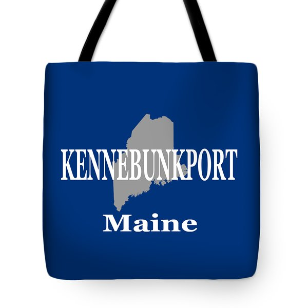 Tote Bag featuring the photograph Kennebunk Maine State City And Town Pride  by Keith Webber Jr