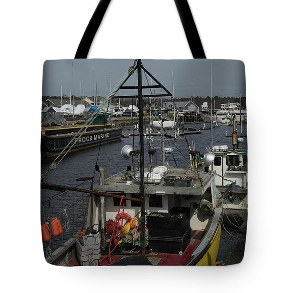 Kennebunkport Harbor In Early Winter Tote Bag