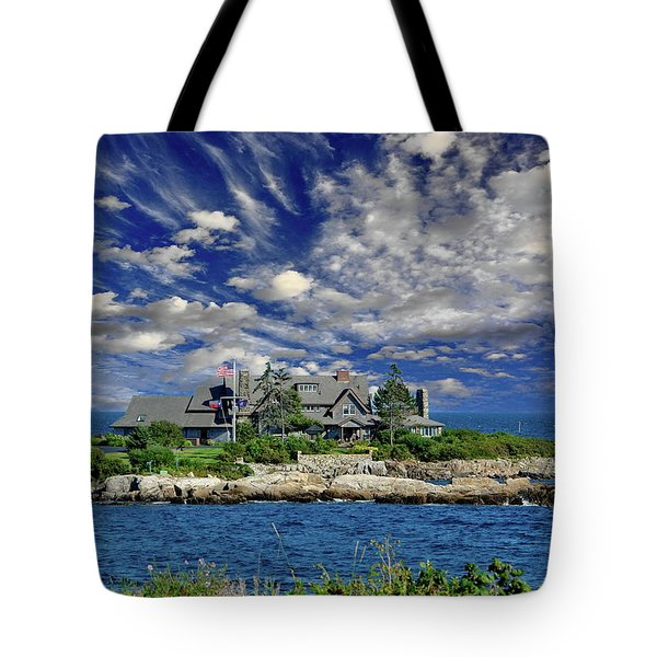 Kennebunkport, Maine - Walker's Point Tote Bag by Russ Harris