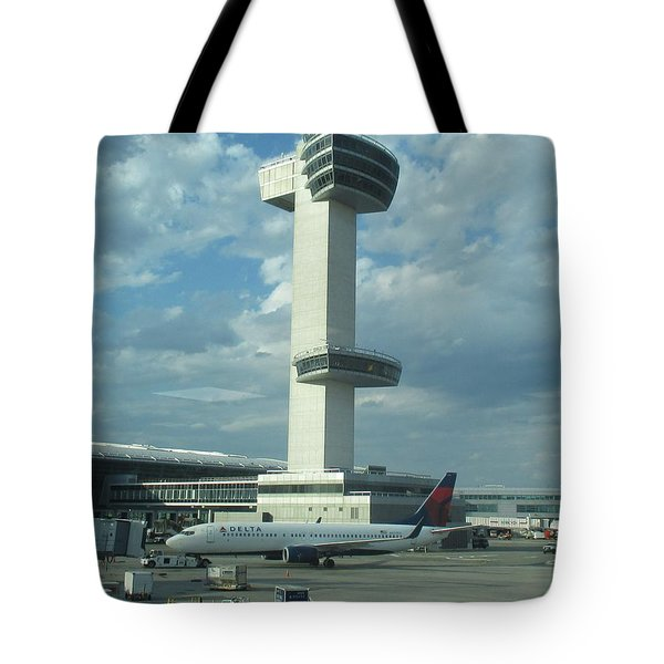 Kennedy Airport Control Tower Tote Bag