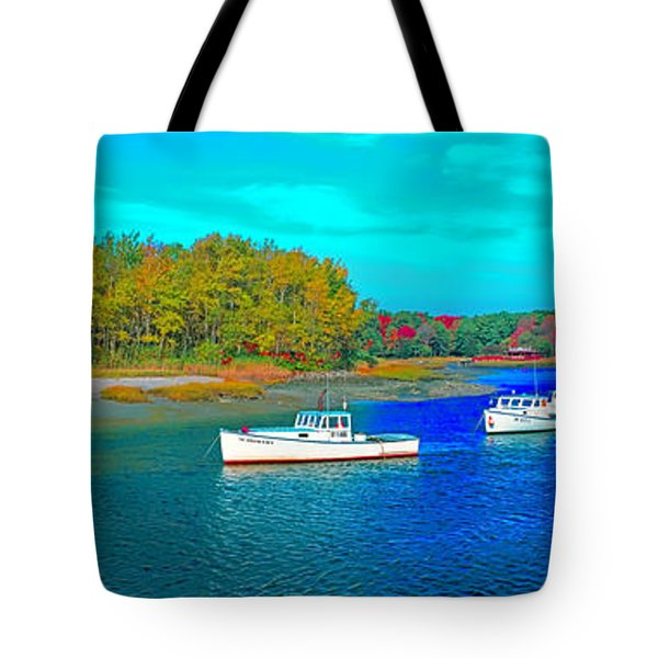 Tote Bag featuring the photograph Kennebunkport, Maine, Lobster Boats by Tom Jelen