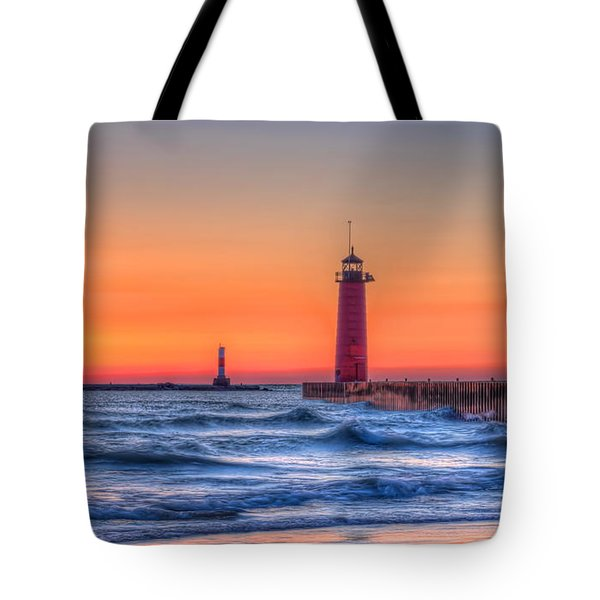 Kenosha Lighthouse Dawn Tote Bag