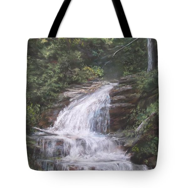 Tote Bag featuring the pastel Kent Falls by Jack Skinner