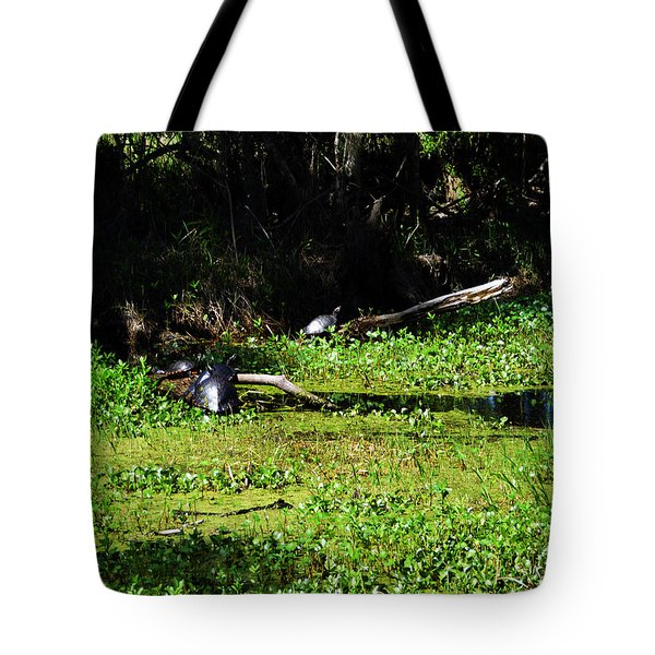 Kenta Canal Turtles Jean Lafitte Park Louisiana Tote Bag