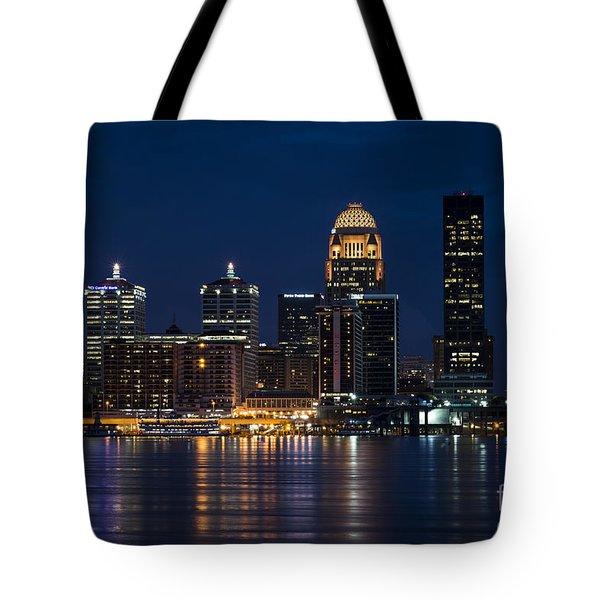 Louisville At Night Tote Bag