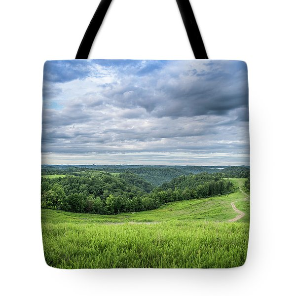 Kentucky Hills And Clouds Tote Bag