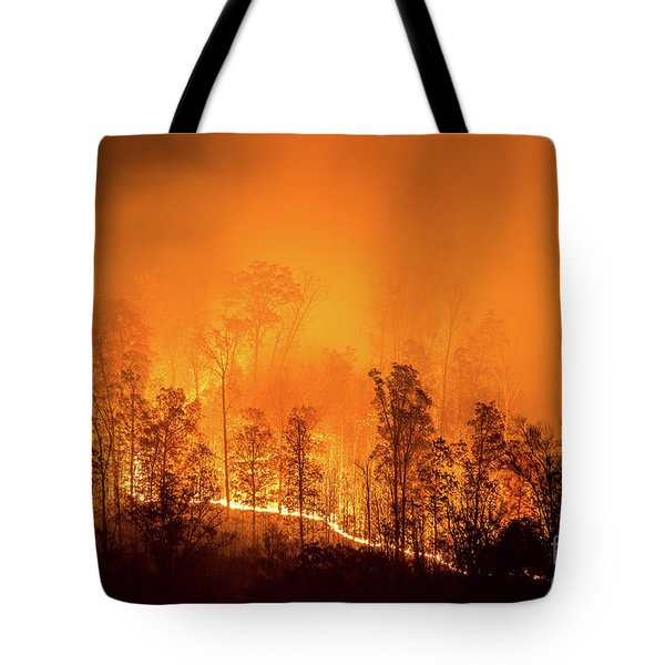 Kentucky Wildfire Tote Bag by Anthony Heflin