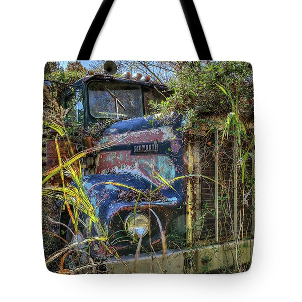 Tote Bag featuring the photograph Kenworth In The Weeds by Jerry Gammon