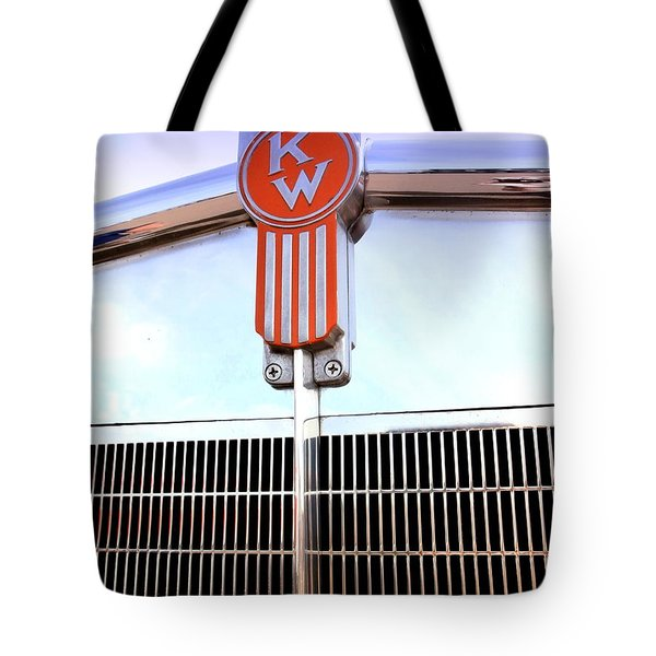 Kenworth Insignia And Grill Tote Bag by Karyn Robinson