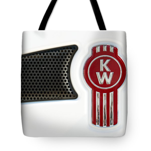 Kenworth Tractor White Tote Bag