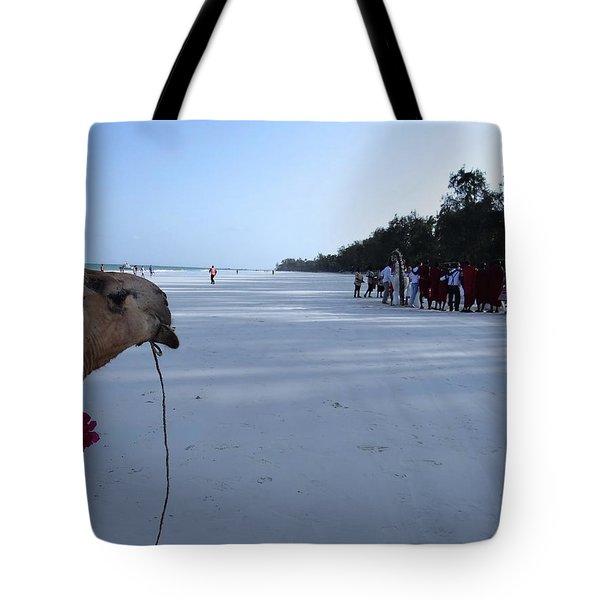 Kenya Wedding On Beach Distance Tote Bag