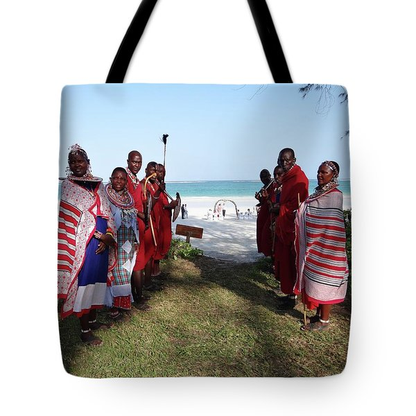 Kenya Wedding On Beach Maasai Bridal Welcome Tote Bag