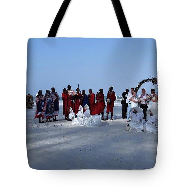 Kenya Wedding On Beach With Maasai Tote Bag