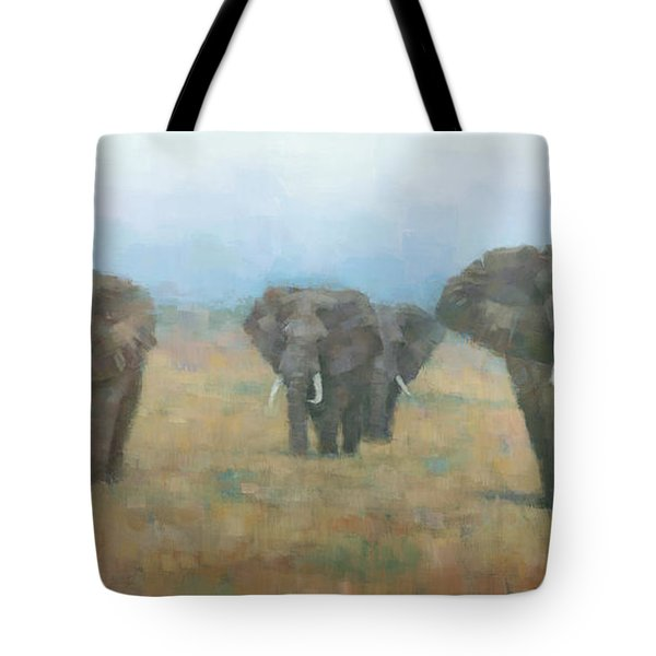 Kenyan Elephants Tote Bag