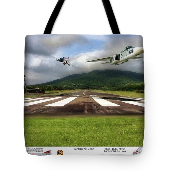 Kep Field Air Show Tote Bag by Peter Chilelli