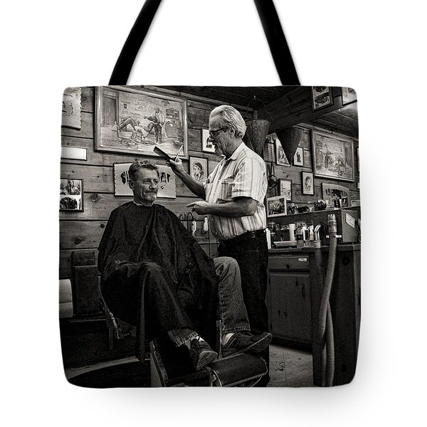 Kernville Barber Shop Tote Bag