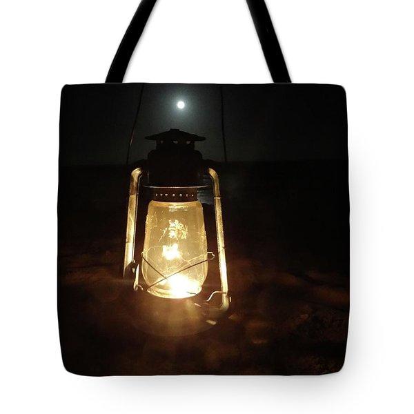 Kerosine Lantern In The Moonlight Tote Bag