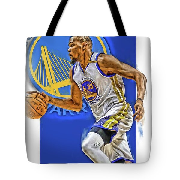 Kevin Durant Golden State Warriors Oil Art Tote Bag
