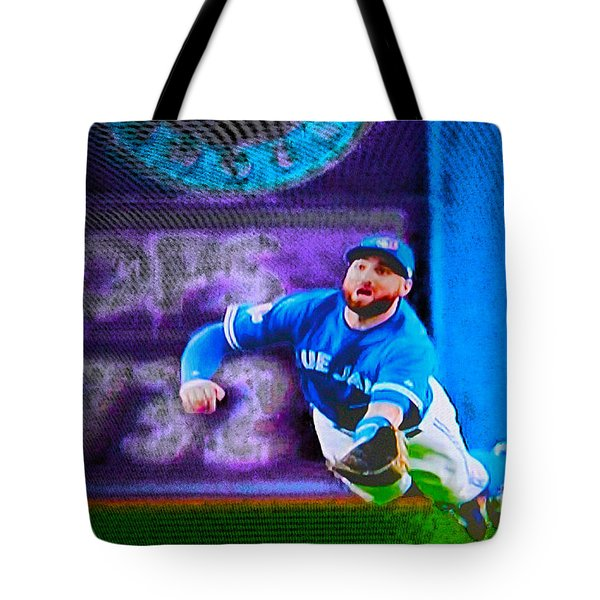 Kevin Pillar In Action II Tote Bag
