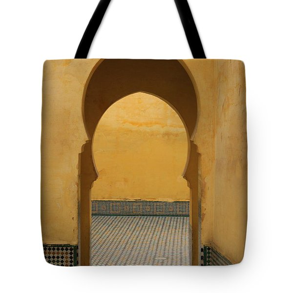 Tote Bag featuring the photograph Key Hole Doors by Ramona Johnston