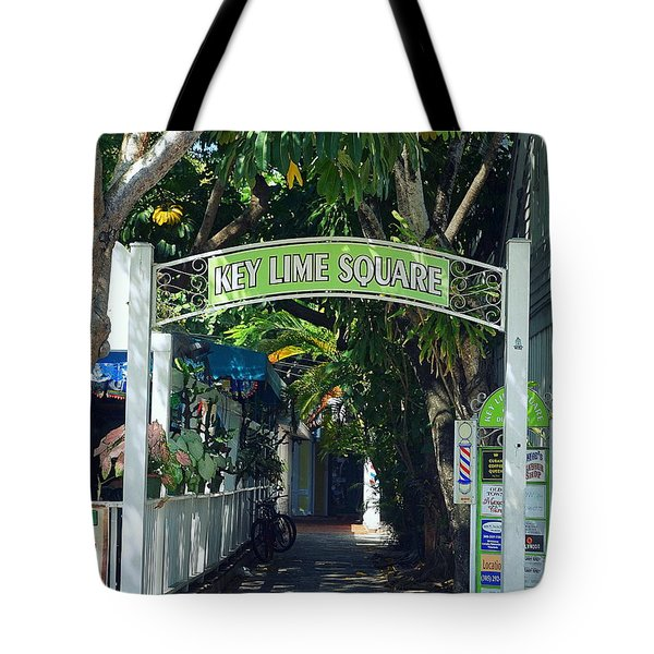 Key Lime Square Tote Bag