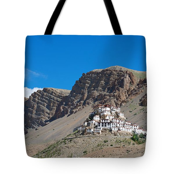 Tote Bag featuring the photograph Key Monastery by Yew Kwang