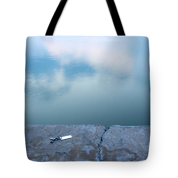 Key On The Lake Shore Tote Bag by Odon Czintos
