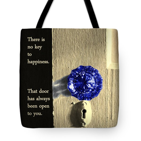 Tote Bag featuring the photograph Key To Happiness by Deborah Smith