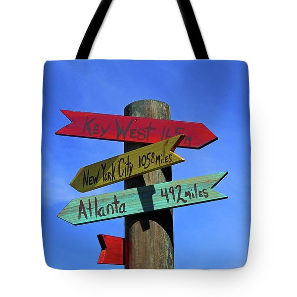 Key West 165 Miles Tote Bag
