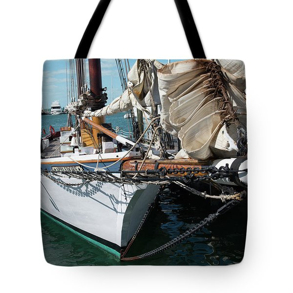 Tote Bag featuring the photograph Key West Appledore Sailboat by Dennis Dame