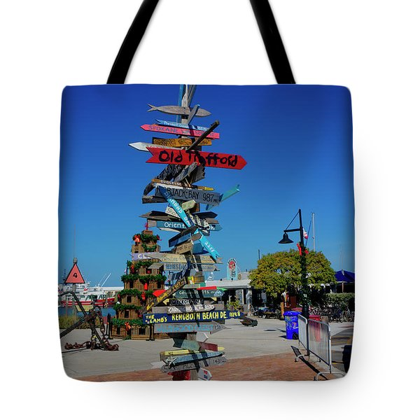 Key West Destination Sign Tote Bag
