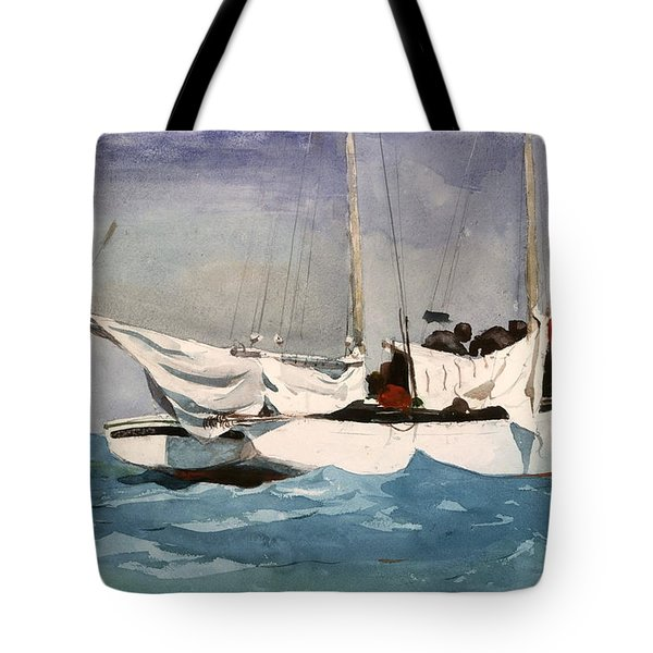 Key West Hauling Tote Bag by Winslow Homer