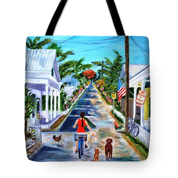 Key West Lane Tote Bag