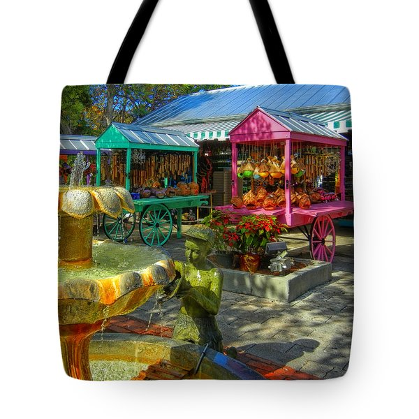 Key West Mallory Square Tote Bag