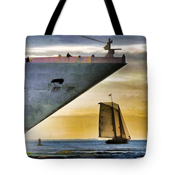 Key West Sunset Sail Tote Bag by Dennis Cox WorldViews