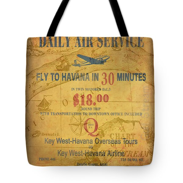 Key West To Havana Tote Bag